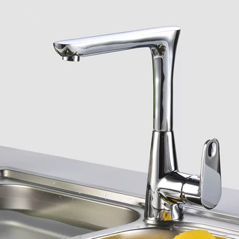 LIUYUE Kitchen Faucets Brass Chrome Right Angle Type Kitchen Faucet 360 Degree Rotation Cold Hot Water Crane Sink Mixer Tap