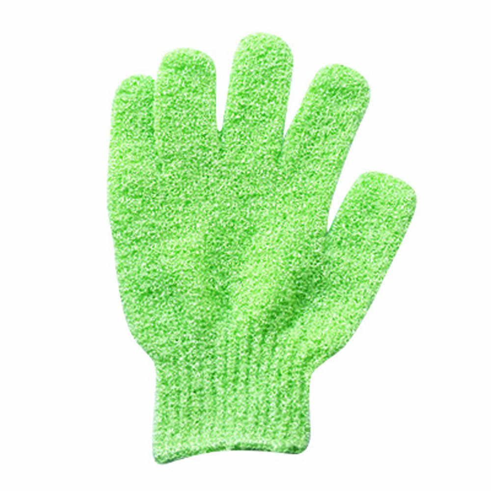 * Cepillo para el cuerpo 1 par de guantes de ducha exfoliantes para lavar la piel Spa guantes de baño espuma antideslizante para baño guante de matorral badkamer 0.652