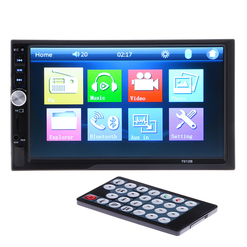 New 2 Din 7'' inch LCD Touch screen car radio player support 8 Languages Menu BLUETOOTH hands free rear view camera car audio car radio 7 inch lcd touch screen car radio player bluetooth hands free movie rear view camera 2 din audio stereo mp5