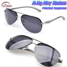 2017 Dos Homens sem aro óculos polarizados liga de alumínio-magnésio  Navegação moda Dupla Ponte óculos de sol espelho de conduçã. 15d44f6cbf