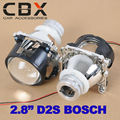 Бесплатная Доставка 2.8 Дюйм(ов) Би-ксеноновые Проектора Объектив D2S D2H Патрон Лампы H4 Фара Легкая Установка Мини-Объектив Проектора LHD