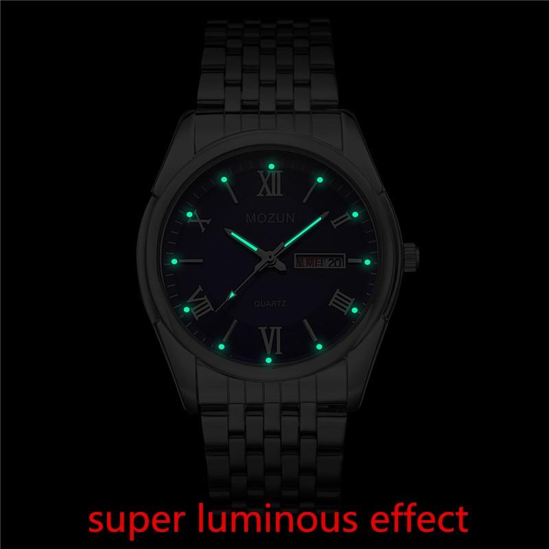 Naujas laikrodis Vyriški laikrodžiai Dual Date Quartz Vyriški - Vyriški laikrodžiai - Nuotrauka 6