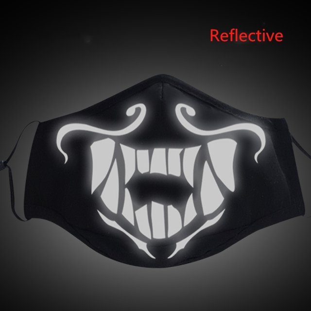 Game LOL KDA Akali Masque Cosplay Props S8 Mask Night Lights Face Masks Women Men Resist The Cold Wind Accessoires 4