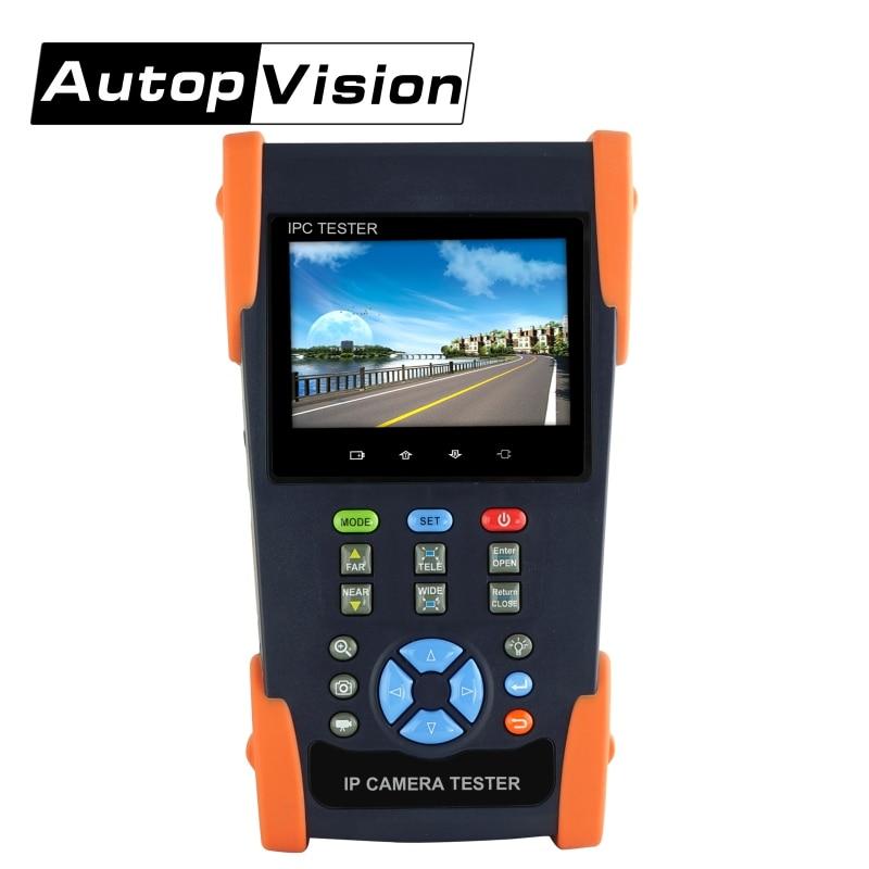 DHL Бесплатная IPC3500 CCTV тестер 3,5 Сенсорный экран IP аналоговый Камера Тестер монитор ONVI WI-FI CVI TVI AHD дополнительно Камера тестер