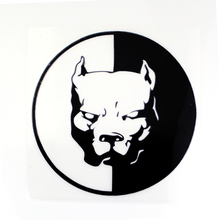 1PC PITBULL Car Stickers 12 12CM Black White Motorcycle Car Styling Decals 3D Funny Car Stickers