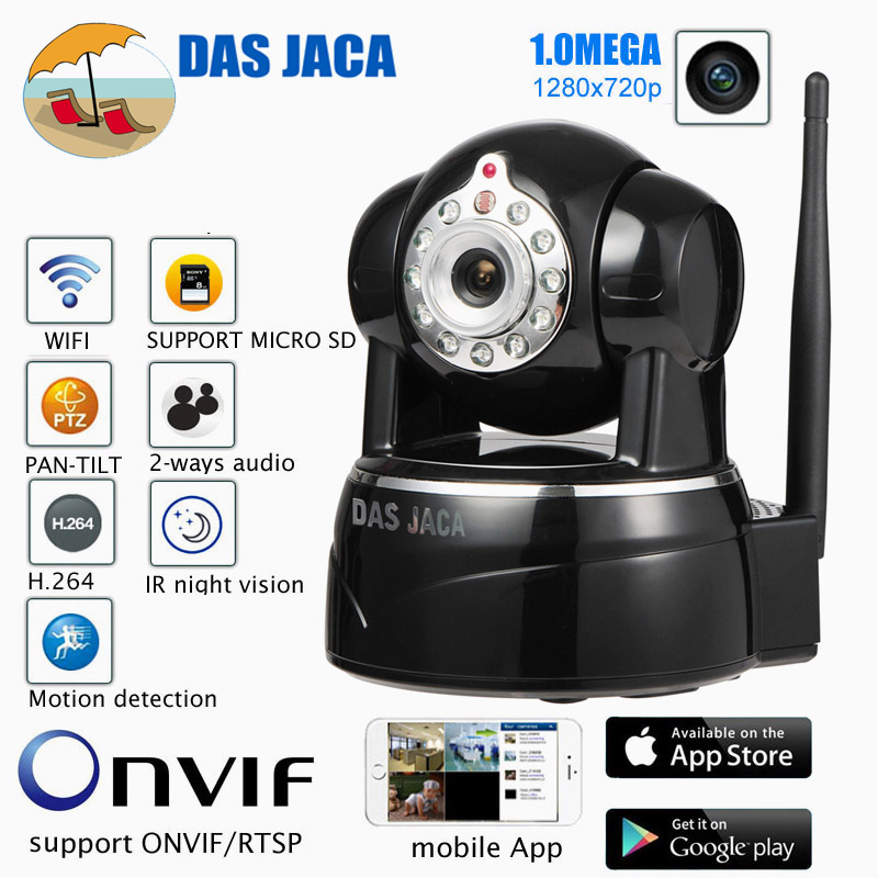 Das Jaca 1.0MEGA IP Camera P2P Baby Monitor Surveillance Camera 720P HD WIFI Camera Infrared Night Home Protection Mobile Remote
