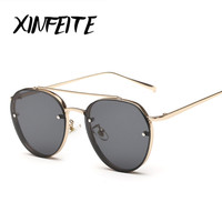 XINFEITE 2017 Fashion Female Fishing Sun Glasses Retro Luxury Women Sexy Pink Sunglasses Brand Designer Hot