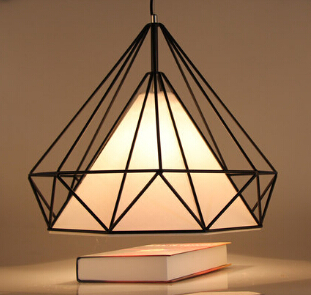 Modern home decoration unique design wrought iron dining room pendant light wire pyramid living room pendant lamp free shipping ems free shipping fashion pendant light cloth lamp cover crystal pendant light wrought iron candle lamp rustic lighting bq6 3
