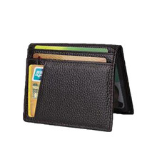 Super Dünne Weiche Mappe Unisex 100% Schaffell Echtes Leder Mini Kreditkarte Halter Geldbörse Karte Halter Männer Brieftasche Hot