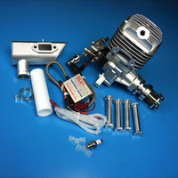 DLE55 55CC GAS Engine For RC Airplane Fixed Wing Model Single Stroke two exhaust wind cold hands start after Stroke