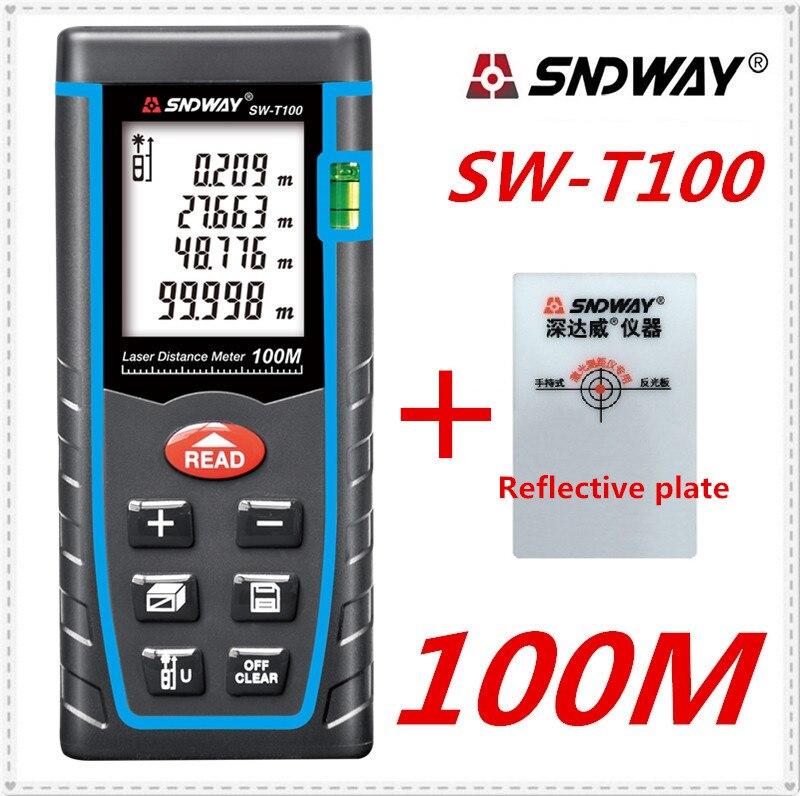 SNDWAY laser tester di distanza di 40 m 60 m 80 m 100 m telemetro laser range finder misura di nastro laser costruire dispositivo di roulette trena righello