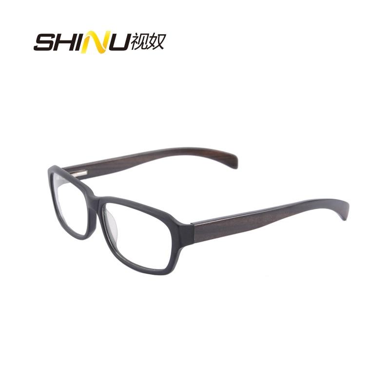 Kacamata optik penghantaran percuma kacamata bingkai kayu asli dengan - Aksesori pakaian - Foto 4