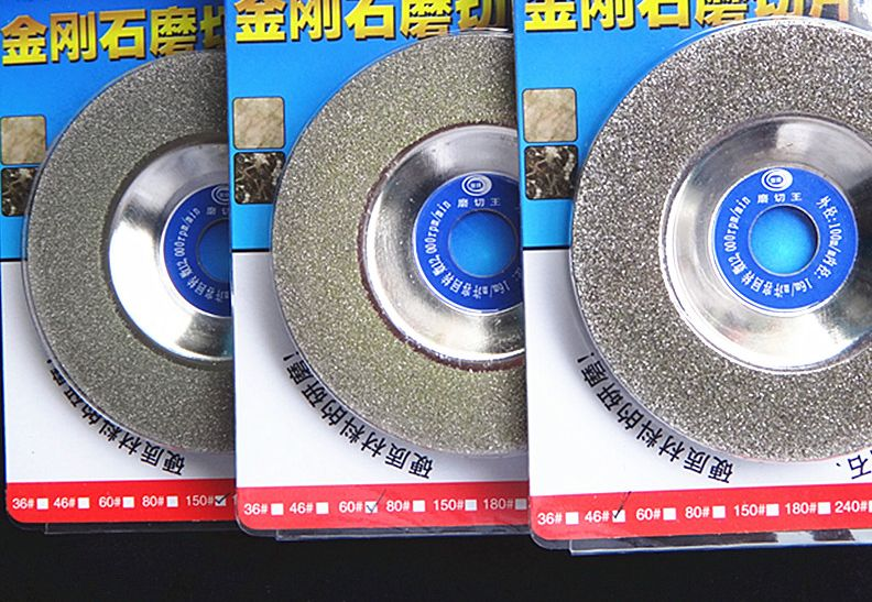 3pcs 46# 60# 150# 100*16mm Taper Cup Wheel Emery Abrasive Disc Round Diamond Grinding Wheel Glass Ceramic Stone Hard Alloy stone abrasive grinding plane stone flower pot base diameter 45 super wear