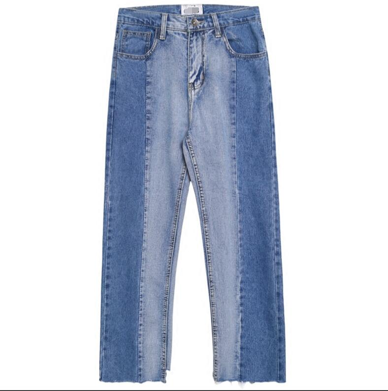 Made Korean version of the jeans men and young summer loose straight nine-cent edge pants. 5