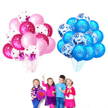 15pcs Pink Blue 1st Birthday Air Balloon Gold Confetti Ballons One Year Old First Party Decor Girl Boy Baby Shower