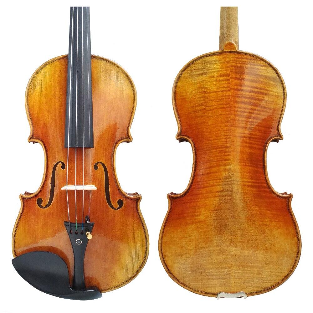 Kostenloser Versand Kopie Antonio Stradivaris Cremonese 1716 Modell Violine FPVN01 mit Leinwand Fall und Brasilien Bogen Kolophonium