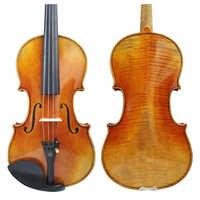 Livraison gratuite copie Antonio Stradivari Cremonese 1716 modèle violon FPVN01 avec étui en toile et nœud du brésil