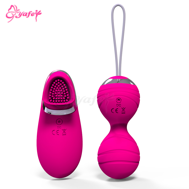 YAFEI 10 speed Kegel Balls Ben Wa love Balls Adult Product Silicone Vaginal Tight Exercise Vibrating eggs Sex Toys for Women