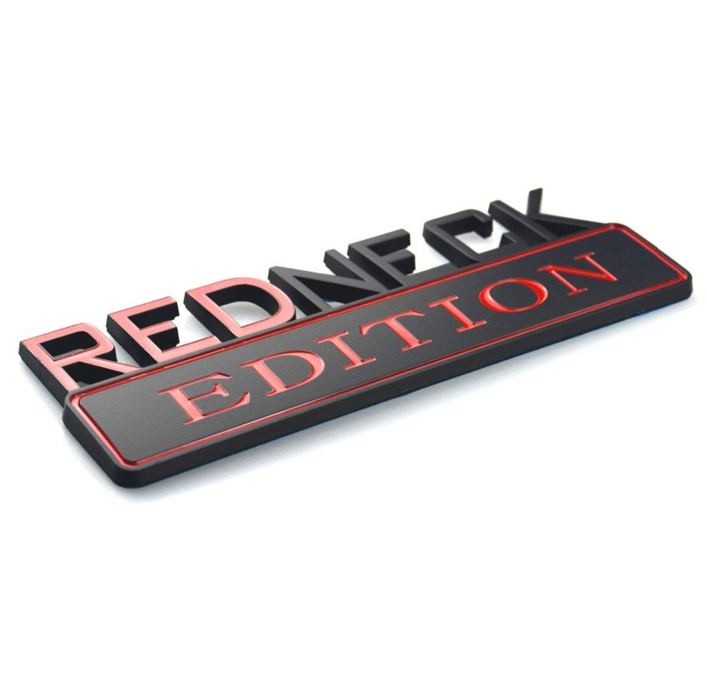 1PC Redneck Edition for Car Truck 3D Letter Emblem Badge Sticker Decal 7x2.5 New