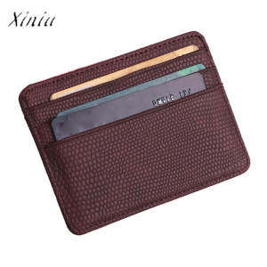xiniu Leather Men Wallets Women Credit Card Holder Cover