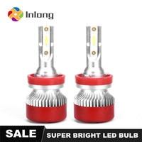 Inlong 2Pcs H7 Car LED Headlight No Error H4 Led Canbus Headlmp Bulbs H11 H8 H9 9005 9006 80W 16000LM Auto Fog Lights 12V 24V