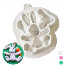 1 Pc Buttons Rabbit Easter Bunny Silicone Mould Fondant Cake Sugar DIY Kitchenware Bakeware mold Home Baking Tool gift 3