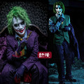 Personalizada Adultos Batman Dark Night Joker Traje Peluca Llena Conjunto Traje de Halloween Cosplay
