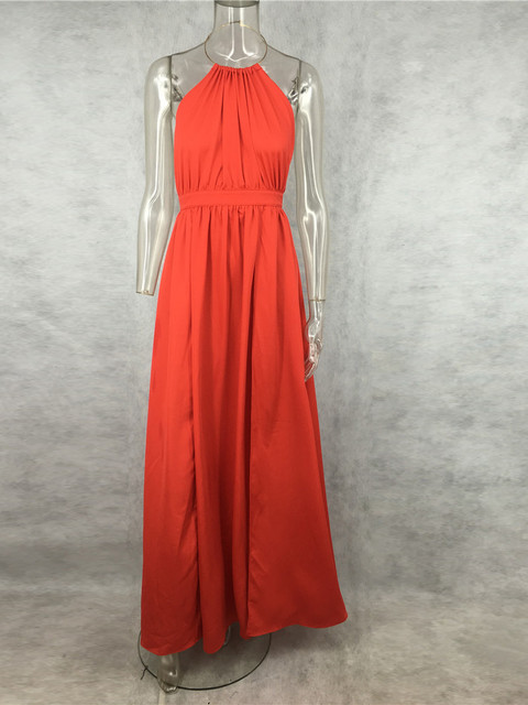 Summer Red Strapless Maxi...
