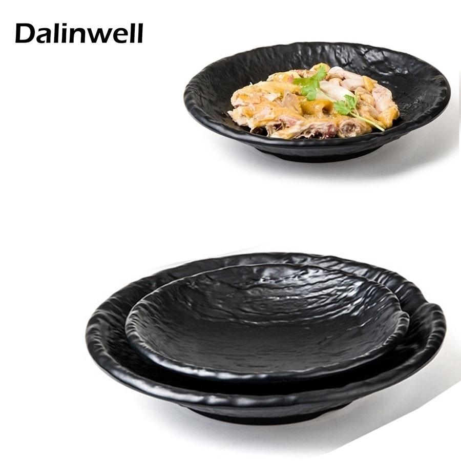 Restaurant Melamine Fry Meat Burger Salad Bowl Dish And Rustic Dishes Plates <font><b>Set</b></font> Imitation Porcelain Cuisine Bibimbap Dinnerware