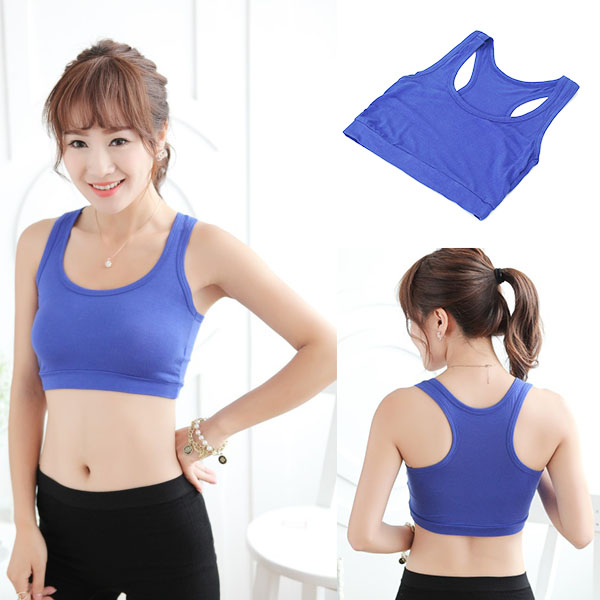 Sport <font><b>Bra</b></font> High Quality Women's <font><b>Sexy</b></font> Sports Cotton Short Tank Tube Top <font><b>Bra</b></font> Casual Sleeveless Uppercase I-shaped image