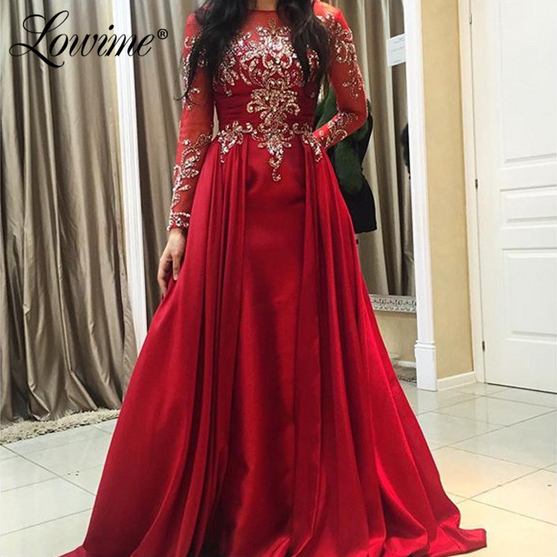 Stunning Crystal Arabic Women   Evening   Gown Custom Made Middle East Women Party   Dresses   2019 Elegant Kaftan Formal   Dress   Vestidos