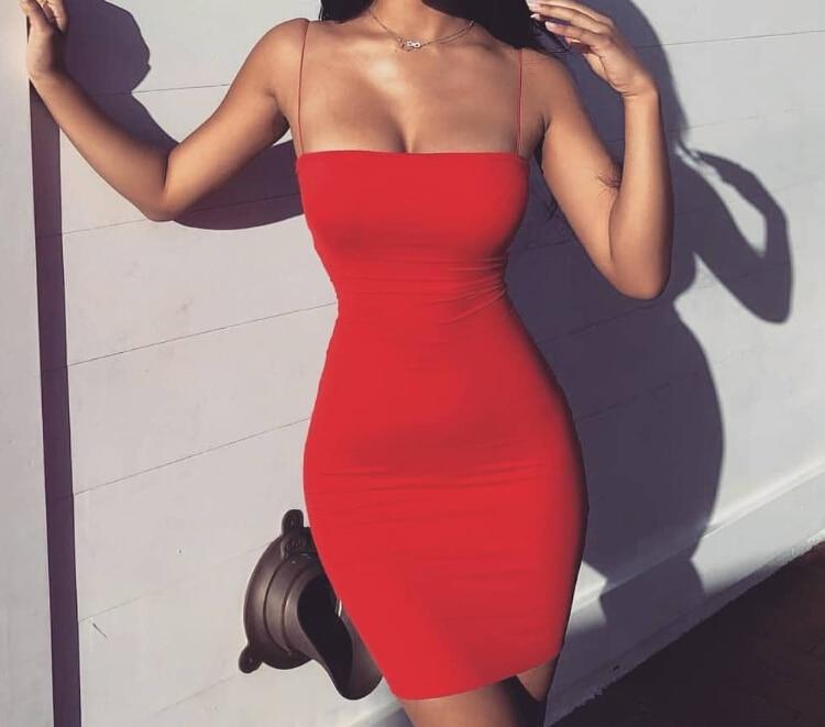 Hot Women Sexy Casual Mini Evening Halter Sleeveless Bodycon Thin Dress Ladies Solid Summer Short Dress 2019