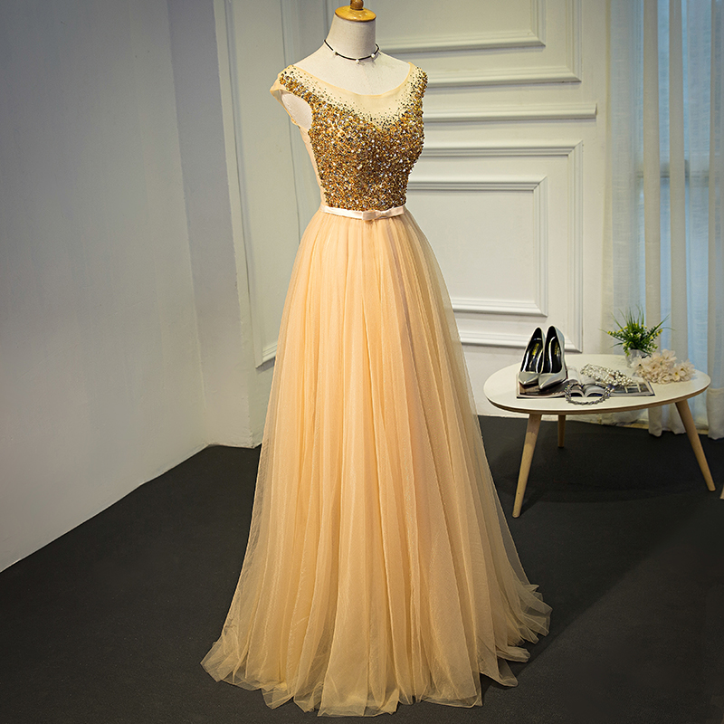 A Line Long   Evening     Dress   Elegant Formal Prom Gown Vestido De Festa Long Party   Dresses   2019