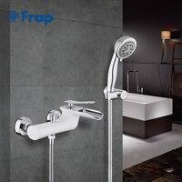 Frap Bath Faucet Brass Shower Set Bathtub Mixer Tap Single Handle Dual Contral Bathroom Tub Shower Faucet Bathtub Faucet Y30001