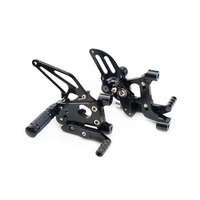 CNC Adjustable Foot pegs Footpeg Footrest Rear Sets For Ducati 899 1199 Panigale S R 2012 2013 2014 2015