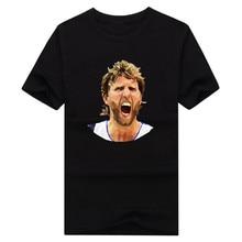 2016 fashion Dirk Nowitzki head cool 41 T Shirt 100% cotton short sleeve T-shirt 10141831