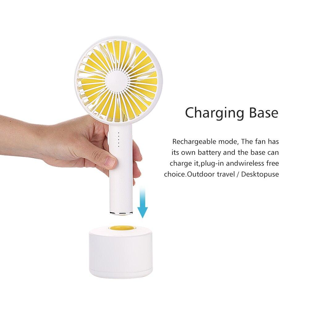 Oatsbasf USB Fan 3 Speed Adjustable Portable Mini Fan Hand Fans Rechargeable Usb Charging Mini Handheld Fan in USB Gadgets from Computer Office