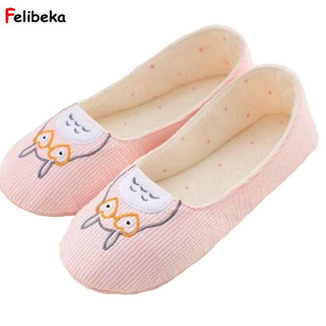 5423b57df Cute Totoro spring Women Home Slippers For Indoor Bedroom House Soft Bottom  Shoes Adult Flats Christmas Gift