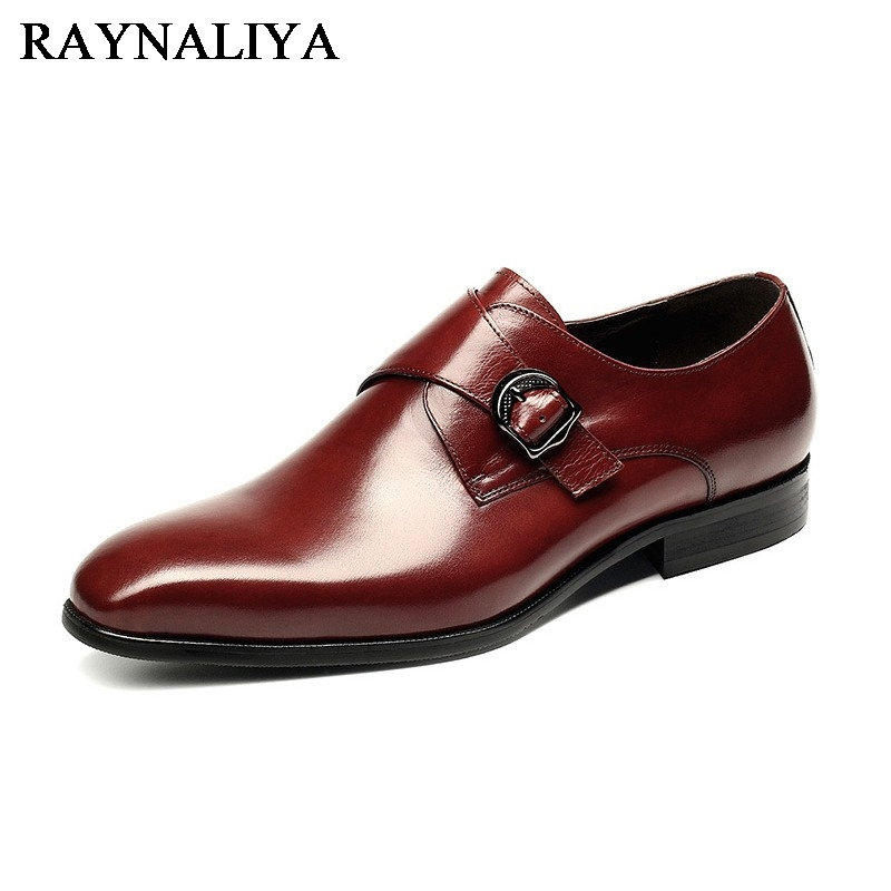 2018 New Arrival Men Dress Formal Shoes Pointed Toe Business Shoes For Man Real Genuine Leather Male Flats Shoes YJ-B0013 pu pointed toe flats with eyelet strap