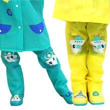 Kids Rain Pants Waterproof Outdoor Hiking Leg Gaiters Raincoat for Children Calf Rainwear Cover For 3-10 Years