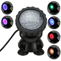 IP68 Multi-color 36 LED Underwater Spot Light for Fish Tank Aquarium Garden Pond Fountain Swimming Pool US Dropshipping