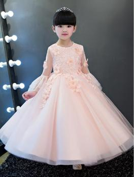 New High quality baby lace princess dress for girl elegant birthday party dress girl dress Baby girl's christmas clothes 1-12yrs