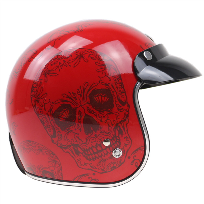 Projekt czaszki kask motocyklowy z wewnętrznym okulary