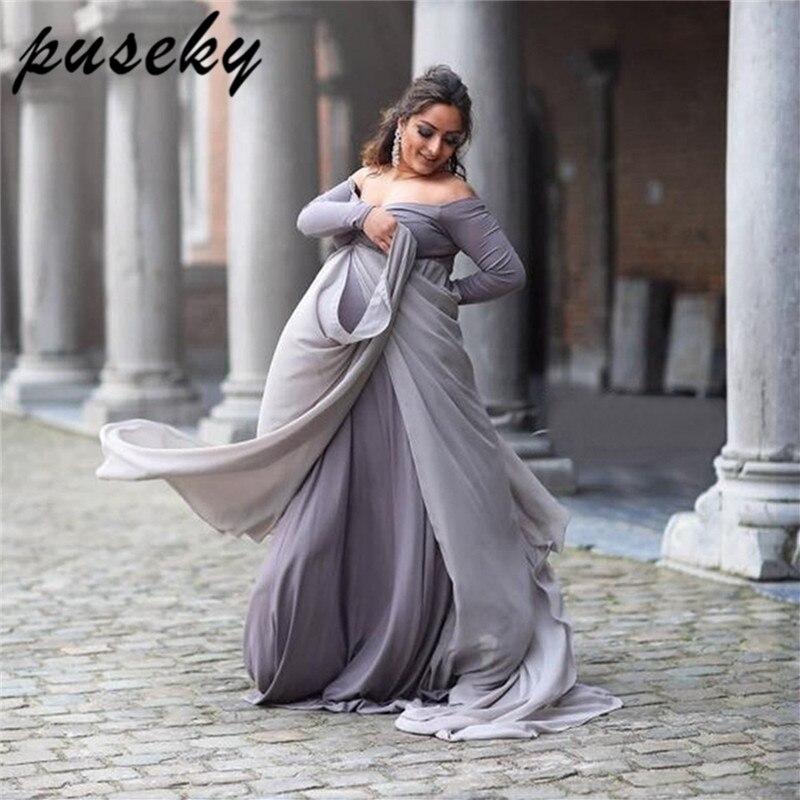 2019 Mode Puseky Mutterschaft Fotografie Requisiten Kleider Für Schwangere Frauen Kleidung Mutterschaft Kleider Für Foto Schießen Schwangerschaft Kleider Um Der Bequemlichkeit Des Volkes Zu Entsprechen