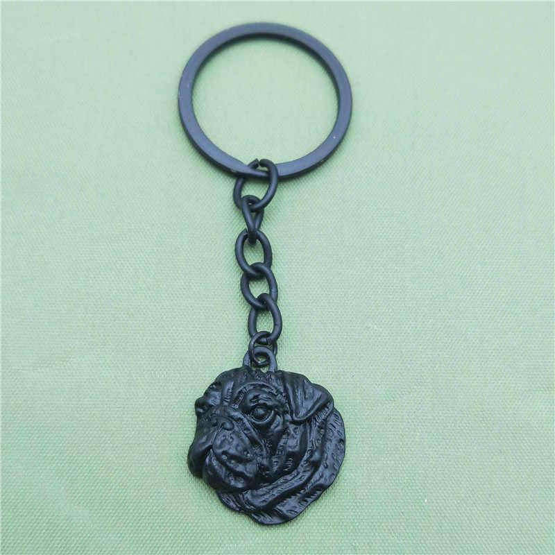 New Vintage Pug Key Chains Fashion Pet Dog Đồ Trang Sức Pug Xe Keychain Bag Keyring Cho Phụ Nữ Người Đàn Ông