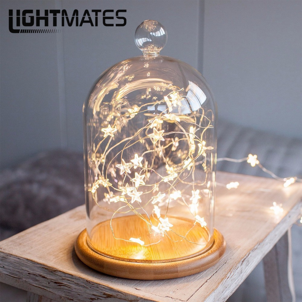 LIGHTMATES LED Stars Lights String Copper Wire LED Fairy Lights Christmas Wedding decoration Lights Battery Operate glitter