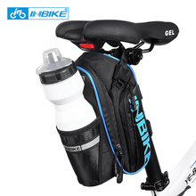 INBIKE Waterproof Bicycle Saddle Bag Rainproof Mountain Bike Rear Pack Cycling Accessories Can Put One Bottle Reflective Night