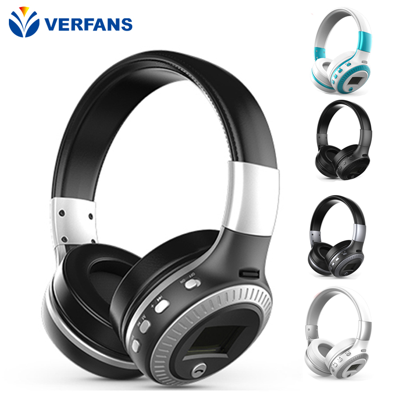 HiFi Bass Stereo Bluetooth Headphone Wireless Headset LCD Display With Microphone FM Radio Micro-SD Card economic set original nia 8809s 8 gb micro sd card a set wireless headphone sport for tv with fm