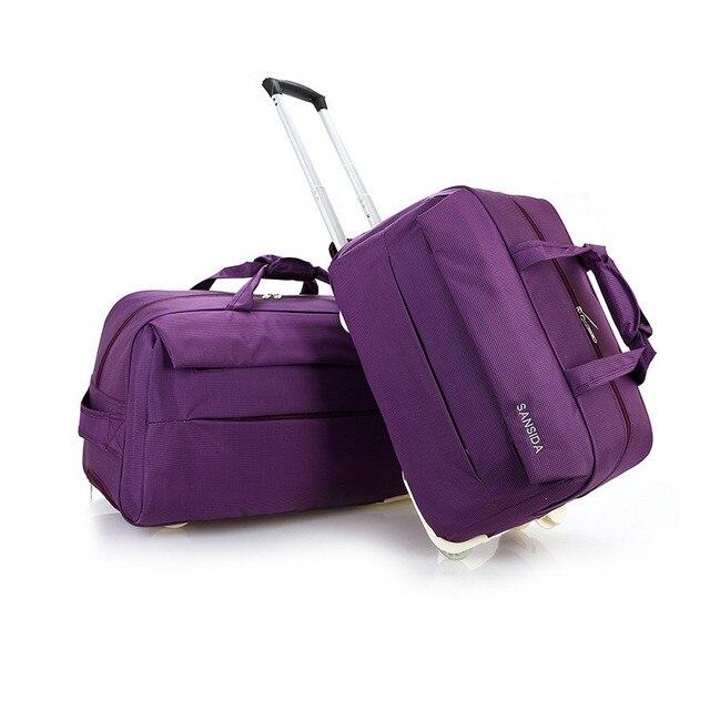 New Large Capacity Oxford Travel Suitcase Sac Wheel Luggage Bags Metal Trolley Bag Women Handbags Travel Bags Unisex
