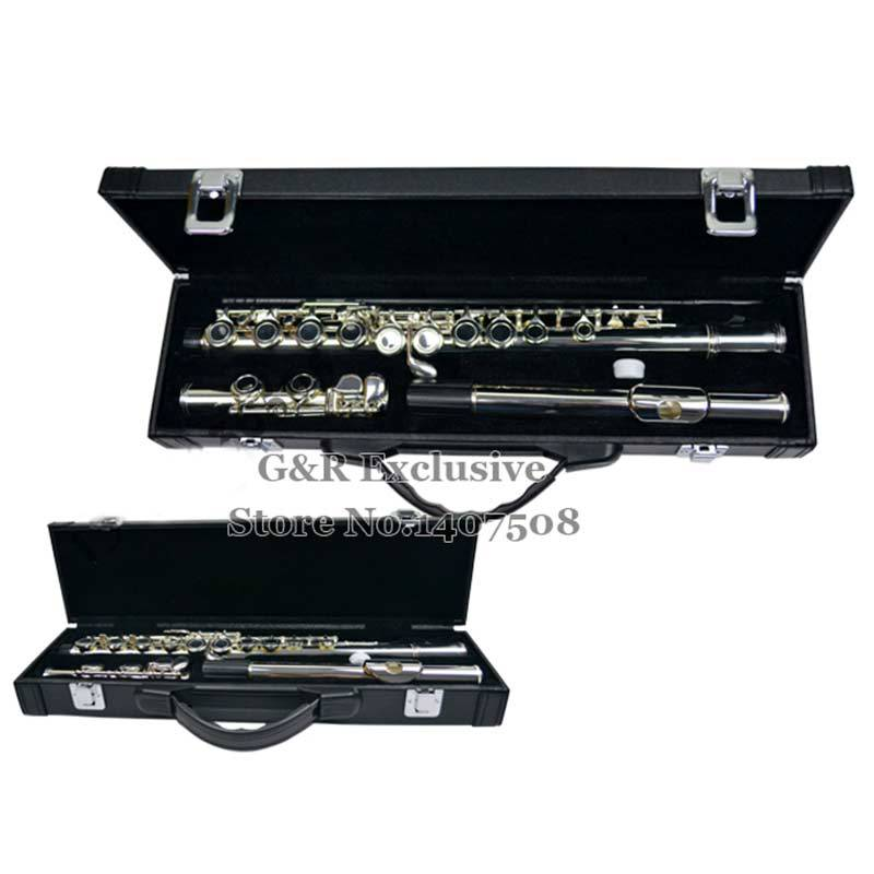 16 Holes C Key Flute Woodwind Musical Instrument Flauta Professional Nickel-plated Flauta With Case 28kw home electricity power us uk eu plug saving up to 30% 90 250v energy factor saver